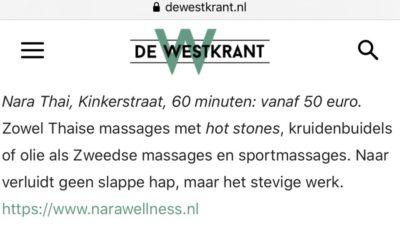 18 heerlijke plekken in West waar je je kunt laten masseren