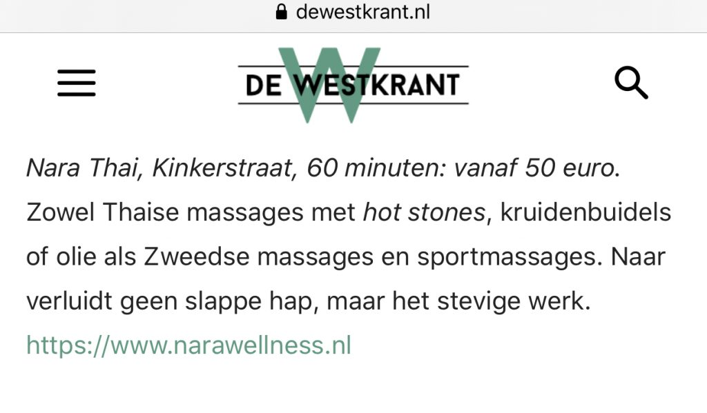 nara wellness westkrant